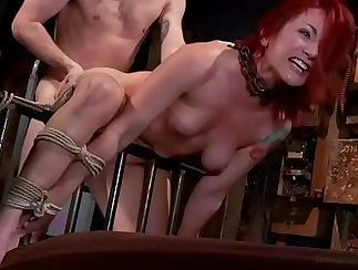 Redheaded women show their wet slits and get fucked