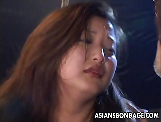 Asian sex slave getting tortured then tied with ropes
