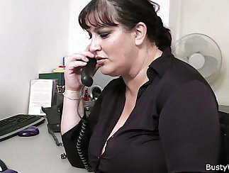 Chubby office nerd gets fucked and gives blowjob