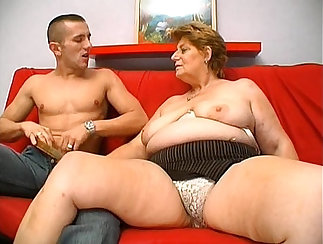 Chubby mature lady gets fucked by young raging hunk