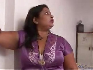 Blue-eyed Indian porn model has a lot of fun in her home