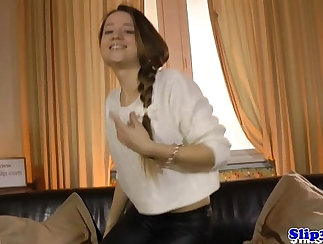 Chubby teen employee from Finland suck and fuck by european