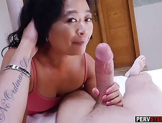 Asian matures locked in group fun