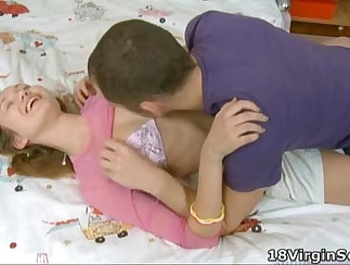 Appreciable virginity experience between two sexy babes