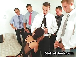 Bondage sex under the table with hand and buttoned internet tutors