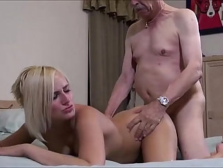 Annie Page is a pornstar that needs her grandpa for loving sex now