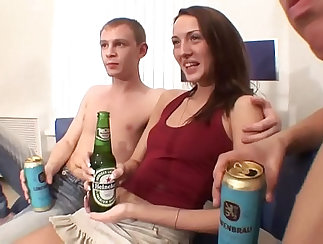 Adorable Russian Amateur Threesome