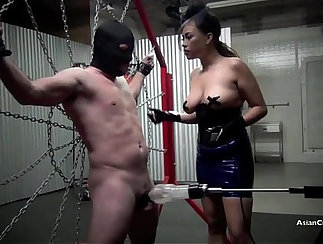 Chained slave MILK gets heat box surgery