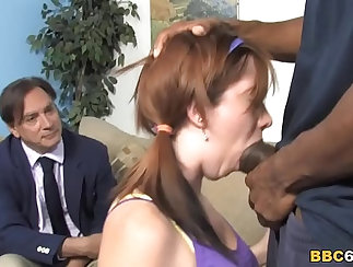BBC licks the messy pussy of Macy and shake