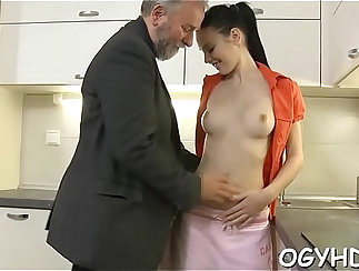 best young girl shows how she works on a big dildo