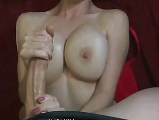 Busty gf rides big hard dick on top of stepson