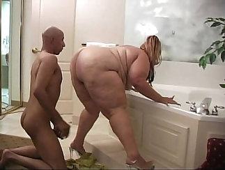 Fat women showing their overweight bodies on camera