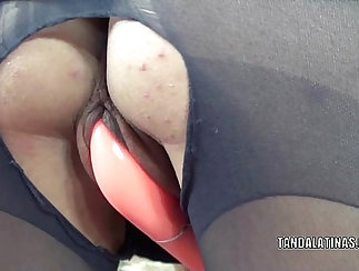 Curious girl toys her latin pussy