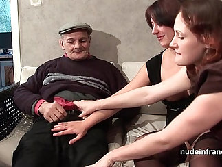 Adorable brunette chicks Chanel and Harmony share a hard cock
